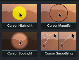 Cursor effects in camtasia