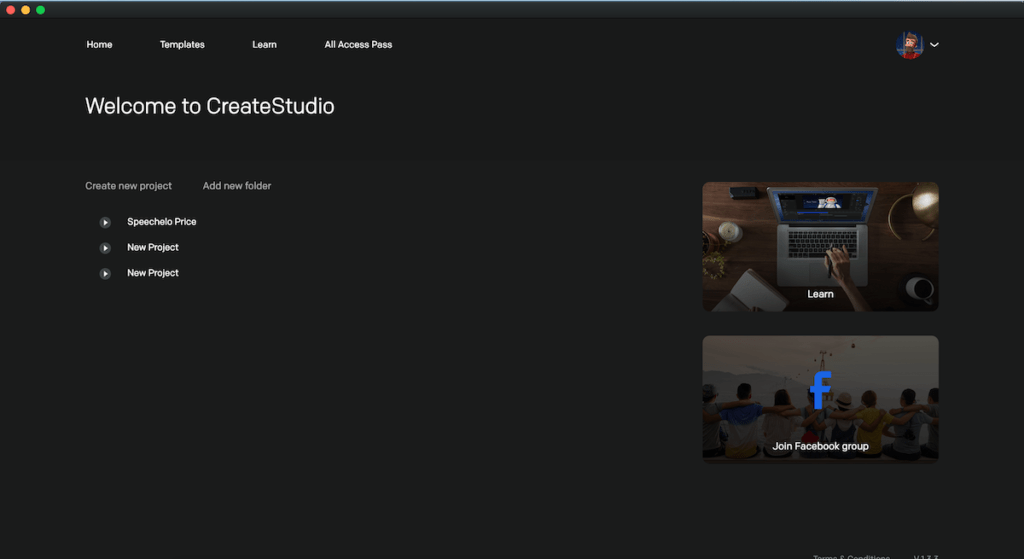 createsutdio dashbord