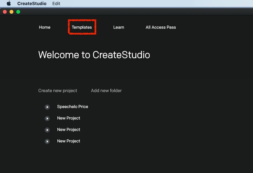 createstudio templates