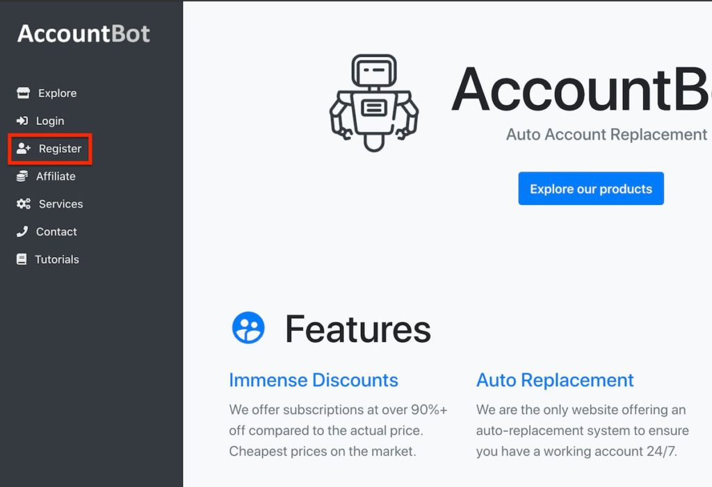 accountbot website