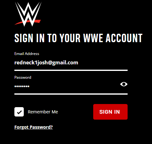 Login to WWE Official Website