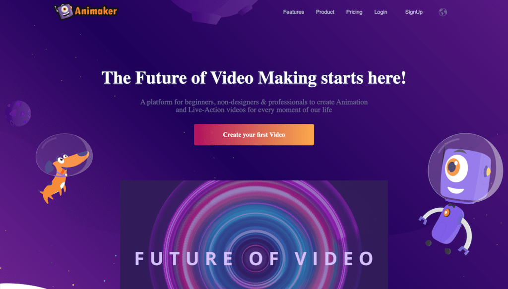 animaker home page