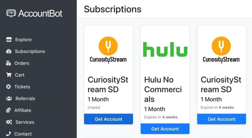accountbot subscription page