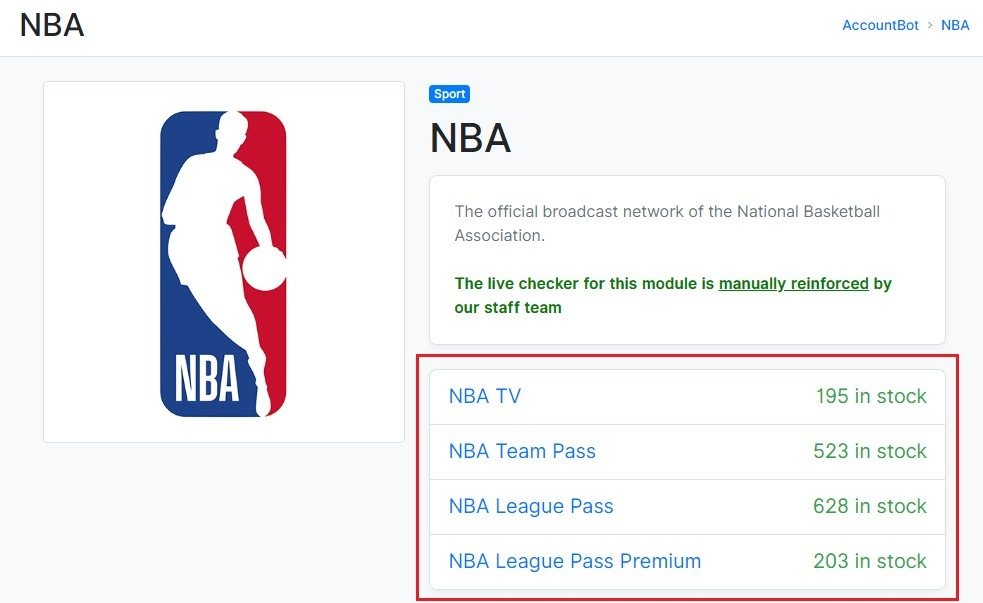 Nba plans and pricing
