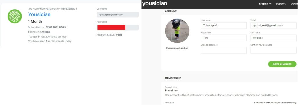 free account yousician from accountbot
